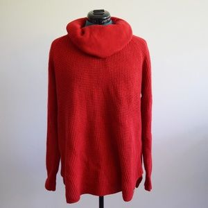 Michael Kors red oversized cowl neck sweater